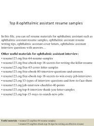 vet assistant resume pinterest the worlds catalog of ideas top 8 ophthalmic assistant resume samples in veterinary technician resume examples