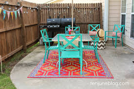 patio table and 6 chairs: colorful outdoor patio makeover reveal tenjune target patio