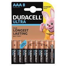 Купить <b>Батарейки КОМПЛЕКТ</b> 8 шт., DURACELL Ultra Power, AAA ...
