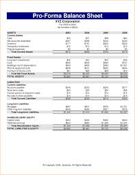 pro forma financial statements template proforma income statement it