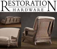 add burlap and nail heads to deconstruct sofa burlap furniture