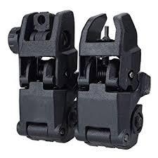 Flip-up Sights, Tracfy <b>Tactical</b> Front and Rear <b>45 Degree Folding</b> ...