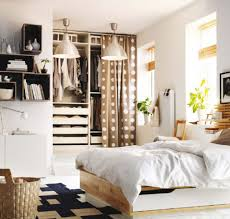dark brown finished cherry wood platform bed ikea bedroom ideas for small rooms grey white patterned bedding set cherry wood wardrobe covered cute white bedroom ideas dark brown