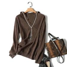 <b>Shuchan</b> Casual Knitted Hoodies <b>Women</b> 2019 Autumn Wool ...
