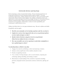 High school community service hours essay