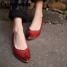 <b>Careaymade</b>-The original innovative cattle hide pointed single shoe ...