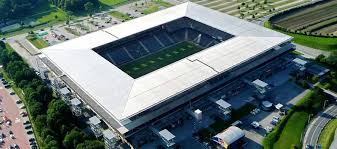 aerial view of red bull arena salzburg austria view red bull
