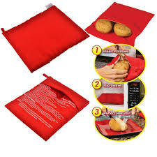 <b>1pc Baked Microwave Potato Bag</b> Cooker <b>Bag</b> Cooks Quick Fast 4 ...