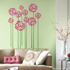 x plush wall: w x  in h bright floral dot  piece