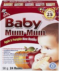 Baby / Toddler Mum Mum <b>Baby Mum</b>-<b>Mum</b> Rice Rusk - <b>Apple</b> and ...
