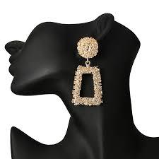 <b>Big</b> Vintage Indian Earrings Women <b>Silver Gold</b> Color Geometric ...