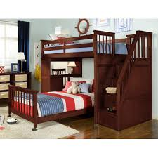 twin over full bunk bed with stairs and desk bunk beds stairs desk