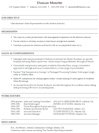 functional resume sample  sales representative in fashionsample resume manufacturer    s sales representative fashion