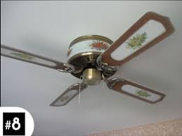 you may think this is nothing more than a dust blanketed ceiling fan but lurking behind those orange flowers which oddly dont match the yellow flowers ceiling fans ugly