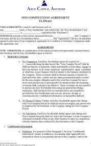 standard non compete agreement premium templates standard non compete agreement of ex owner