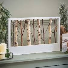 <b>Wooden</b> Battery Light Up <b>Nordic Rectangle</b> Frame with Twigs, Warm ...