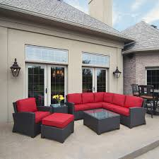 patio furniture sectional ideas:  cabo wicker sectional set north cape international all outdoor patio furniture sectional