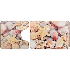 <b>Набор ковриков для ванной</b> комнаты Морские звёзды цвет ...