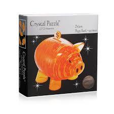"""Цена на Головоломка <b>Crystal puzzle 3D</b> """"Копилка <b>свинья</b> золотая ..."""