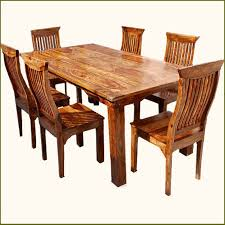 chair dining room tables rustic chairs:  rustic solid wood dining table amp chair set furniture productimage