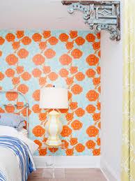 Orange Bedroom Wallpaper Orange Color Palettes Orange Color Schemes Hgtv