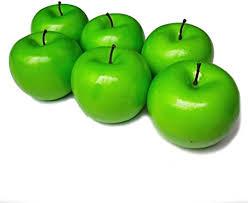 <b>6 Pcs</b> Artificial Green Apples Simulation Fake Fruit Photo Props ...