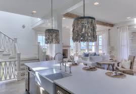 beach house kitchen with shell pendants beach house kitchen beach house kitchen beach beach house kitchen nickel oversized pendant