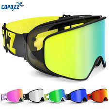 COPOZZ Ski Goggles <b>2 in 1</b> with Magnetic <b>Dual use</b> Lens for Night ...