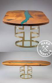 Овальный <b>стол</b> из массива дерева в стиле Река. Оригинальное ...