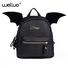 PU Leather <b>Backpack Women</b> Bat Wings <b>Backpacks Teenage Girls</b> ...