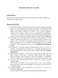 bac francais corrige dissertation     description bac francais