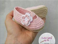 Scarpine ballerine neonata/bambina rosa pesca/trafori - uncinetto ...