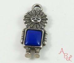 Sterling Silver Vintage <b>925</b> Tawa Lapis Pendant (<b>3.4g</b>) - 802043 ...