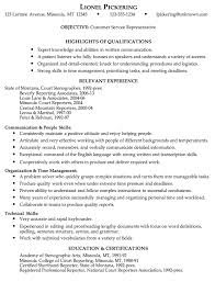 cover letter customer service representative position sample resume resume objectives for customer service representative customer services representative resume