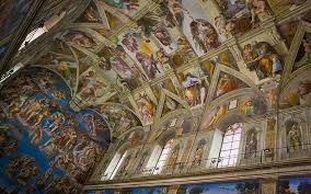「1512, Cappella Sistina opened to public for the ceiling pictures」の画像検索結果