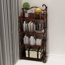 4 Teir Wrought <b>Iron</b> Floor Shelf Home Office <b>Simple</b> Vantage Display ...