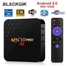 MX10 PRO Android 9.0 6K HDR Smart TV Box Allwinner <b>H6</b> 4GB ...