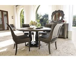 Round Back Dining Room Chairs Bernhardt Belgian Oak 5pc Round Dining Room Set With Sleigh Back