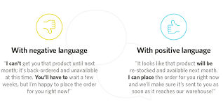 customer perception can make or break your support negative language vs positive language