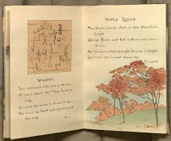 kenneth spencer research library blog ese block books image of opening for the poems misere and maple leaves from volume