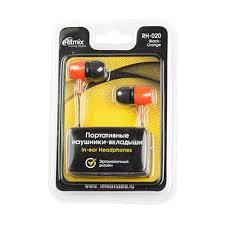 <b>Наушники Ritmix RH-020 black</b> + orange - купить в интернет ...