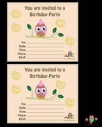 owl birthday party invitations for kids birthday children s printable birthday invitations birthday invitation