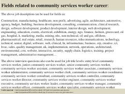 Top    community services worker interview questions and answers         Fields related to community services