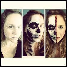 half skull makeup tutorial on you