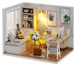 Мини DIY <b>кукольный домик и</b> куклы деревянные кукольные ...
