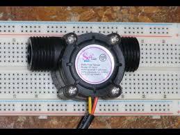 RPi 20 - YF-S201 Hall Effect Water Flow Meter / Sensor - YouTube
