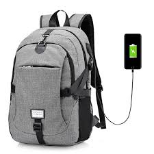 <b>17 Inch</b> Nylon Laptop Bag With USB Charger <b>Casual Business</b> ...