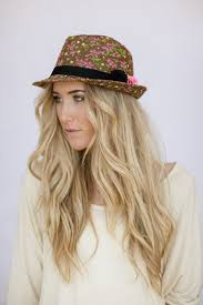 Items similar to <b>Floral Fedora</b> Hat for <b>Women</b> with Felt <b>Flower</b> Pins ...