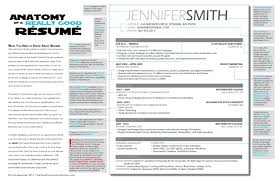 the anatomy of a really good résumé a good résumé example the anatomy of a really good resume
