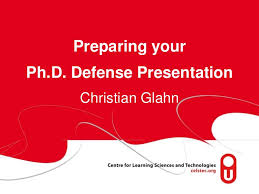 Prepare your Ph D  Defense Presentation